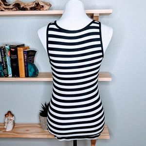 Old Navy Tops - Old Navy Perfect Fitted black white striped Tank
